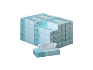 Georgia Pacific Angel Soft ps Premium Facial Tissues, 100/Flat Box, 30 Boxes/Carton