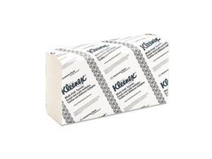 KIMBERLY-CLARK PROFESSIONAL* 01890 KLEENEX Multifold Paper Towels, 9 1/5 x 9 2/5, White, 150/Pack, 16/Carton