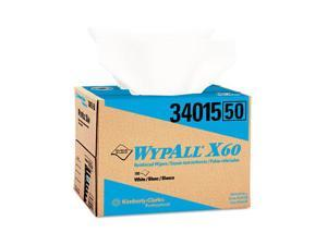 KIMBERLY-CLARK PROFESSIONAL* 34015 WYPALL X60 Wipers, 12 1/2 x 16 7/8, 180/Box