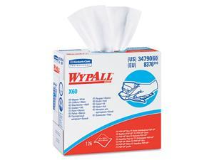 KIMBERLY-CLARK PROFESSIONAL* 34790BX WYPALL X60 Wipers, HYDROKNIT, 9 1/8 x 16 4/5, 126/Box