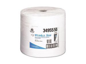 KIMBERLY-CLARK PROFESSIONAL* 34955 WYPALL X60 Wipers, Jumbo Roll, 12 1/2 x 13 2/5, 1100/Roll, 1/Carton