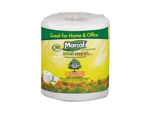 Marcal                                   100% Premium Recycled 2-Ply Embossed Toilet Tissue, 48 Rolls/Carton