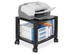 Kantek Mobile Printer Stand, 2-Shelf, 17w x 13-1/4d x 11-7/8h, Black