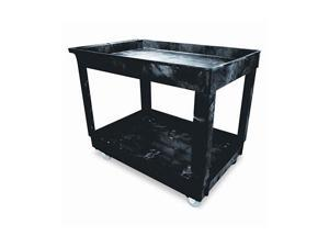 Rubbermaid Commercial 9T6700BLA Service/Utility Cart, 2-Shelf, 24w x 40d x 31-1/4h, Black