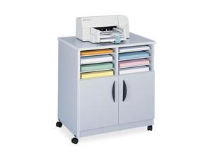 Safco 1851GR Laminate Machine Stand w/Sorter Compartments, 28w x 19-3/4d x 30-1/2h, Gray