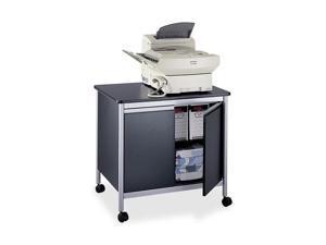 Safco 1872BL Deluxe Steel Machine Stand, 1-Shelf, 32w x 24-1/2d x 30-1/8h, Black