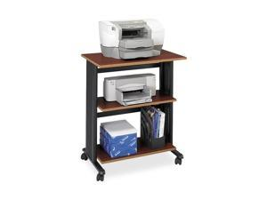 Safco 1881CY Mobile Machine Cart, 3-Shelf, 29-1/2w x 20d x 35h, Black