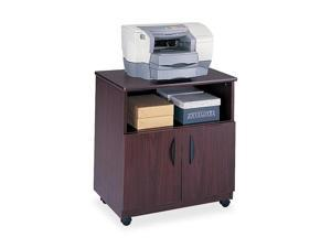 Safco 1850MH Laminate Machine Stand w/Open Compartment, 28-1/8w x 19-3/4d x 30-1/2h, Mahogany