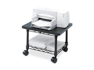 Safco 5206BL Underdesk Printer/Fax Stand, 1-Shelf, 19w x 16d x 13-1/2h, Black