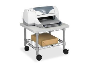 Safco 5206GR Underdesk Printer/Fax Stand, 1-Shelf, 19w x 16d x 13-1/2h, Gray
