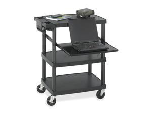Safco 8929BL Multimedia Projector Cart, 4-Shelf, 27-3/4w x 18-3/4 x 34-3/4, Black