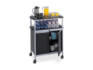 Safco 8964BL Mobile Beverage Cart, 33-1/2w x 21-3/4d x 43h, Black