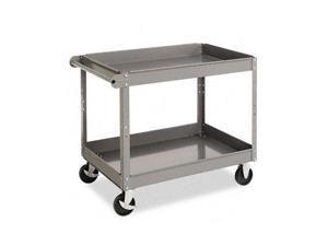 Tennsco SC-2436 Two-Shelf Metal Cart, 2-Shelf, 24w x 36d x 32h, Gray