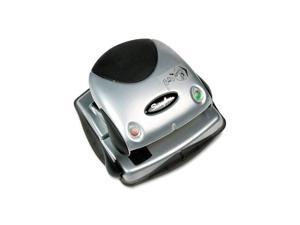 Swingline 20-Sheet Easy View Two-Hole Punch, 9/32 Diameter Hole, Plastic, Black/Silver