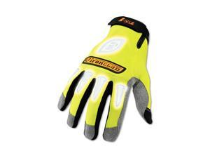 Ironclad IVG-04-L I-Viz Reflective Gloves, 1 Pair, Fluorescent Green, Large