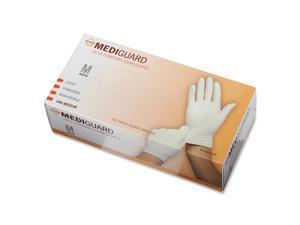 Medline                                  MediGuard Powdered Latex Exam Gloves, Medium, 100/Box
