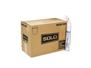 SOLO Cup Company                         White Paper Water Cups, 4 oz., 50 Bags of 100/Carton