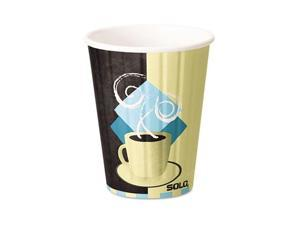 SOLO Cup Company                         Duo Shield Hot Insulated 12 oz Paper Cups, Beige, 600/Carton