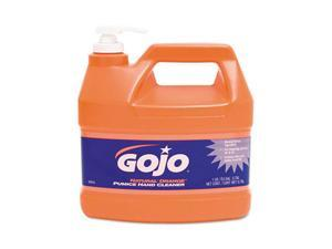 GOJO 0955-04EA Natural Orange Pumice Hand Cleaner, Orange Citrus, 1 gal Pump