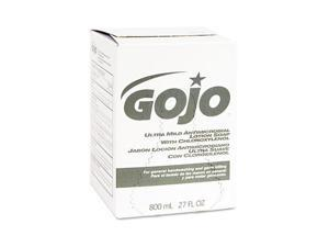 GOJO 9212-12EA Ultra Mild Lotion Soap w/Chloroxylenol Refill, Lightly Scented, 800-ml