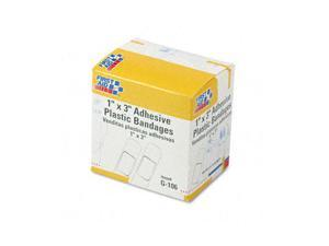 First Aid Only™                          Plastic Adhesive Bandages,1 x 3, 100/Box
