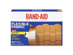 Johnson & Johnson                        Flexible Fabric Adhesive Bandages,1 x 3, 100/Box