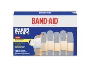 Sheer Adhesive Bandages, 3/4 x 3, 100/Box
