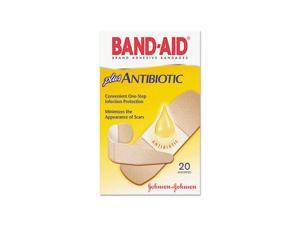 Johnson & Johnson                        Antibiotic Adhesive Bandages, Assorted Sizes, 20/Box