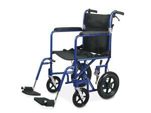 Medline MDS808210AB Excel Deluxe Aluminum Transport Wheelchair, 19 x 16, 300 lbs.