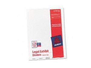 Avery                                    Avery-Style Legal Bottom Tab Divider, Title: Exhibit 1-25, Letter, White
