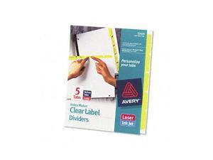 Avery                                    Index Maker Divider w/Color Tabs, Yellow 5-Tab, Letter, 5 Sets/Pack