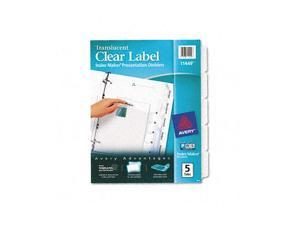 Avery                                    Index Maker Clear Label Punched Dividers, 5-Tab, Letter