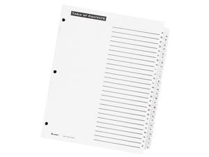 Avery                                    Office Essentials Table 'N Tabs Dividers, 26-Tab, A-Z, Letter, White, 1 Set