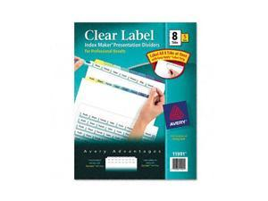 Avery                                    Index Maker Clear Label Contemporary Color Dividers, 8-Tab, 5 Sets/Pack