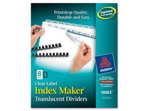 Avery Index Maker Unpunched Clear Label Dividers, 8-Tab, Letter, 5 Sets/Pack