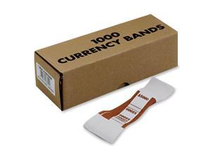 MMF Industries Self-Adhesive Currency Straps, Brown, $5,000 in $50 Bills, 1000 Bands/Box