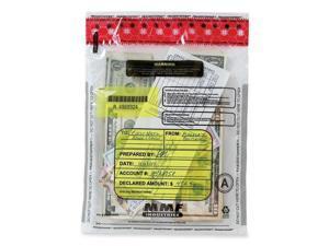 MMF Industries 2362011N20 Tamper-Evident Deposit/Cash Bags, Plastic, 12 x 16, Clear, 100 Bags/Box