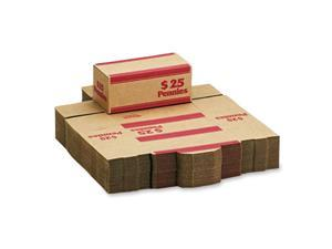 MMF Industries 240140107 Corrugated Cardboard Coin Transport Box, Lock, Red, 50 Boxes/Carton