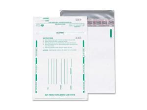 Quality Park 45228 Poly Night Deposit Bags w/Tear-Off Receipt, 10 x 13, Opaque, 100 Bags/Pack