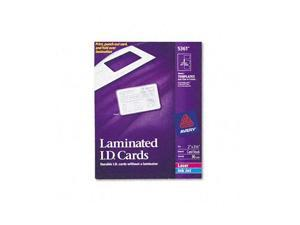 Laminated Laser/Inkjet ID Cards, 2 x 3-1/4, White, 30/Box
