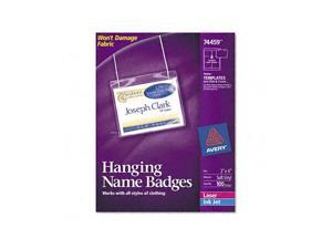 AVERY 74459 Neck Hang Badge Holder w/Laser/Inkjet Insert, Top Load, 3 x 4, White, 100/BX