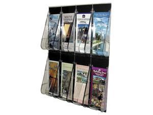 Multi-Pocket Wall-Mount Literature Systems, 18-1/4w x 2-7/8d x 23-1/2h, Clear/BL