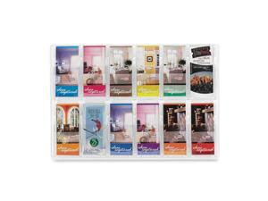 Reveal Clear Literature Displays, 12 Compartments, 30 w x 2d x 20-1/2h, Clear
