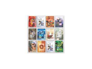 Reveal Clear Literature Displays, 12 Compartments, 30w x 2d x 30h, Clear