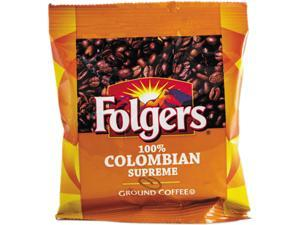 Folgers 100% Colombian Pouch Coffee - Regular - Dark/Bold - Ground - 42 / Carton