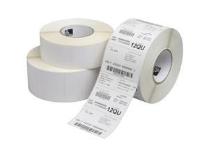 "Zebra 10015341 Label Paper  2.25"" Width x 1.25"" Length - 12 / Roll - 2100/Roll - Direct Thermal - White"