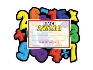 "Motivations Numbers ""Math"" Certificate Award Kit and Holder, 8.5 X 5.5, 10/pk"
