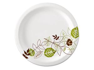 "Dixie Pathways Paper Plates, 8.5"", WiseSize, Green/Burgundy, 500/Carton"