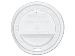 SOLO Cup Company OFTL31-0007 Traveler Drink-Thru Lid, White, 300/Carton