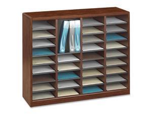Wood/Fiberboard E-Z Stor Sorter, 36 Sections, 40 x 11 3/4 x 32 1/2, Cherry